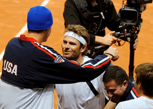 Huge. Two unexpected wins from John Isner and Mardy Fish.