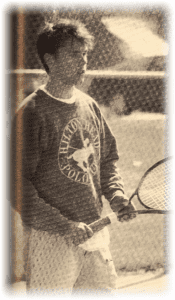 A yearbook shot. Yeah, I played...and had hair.