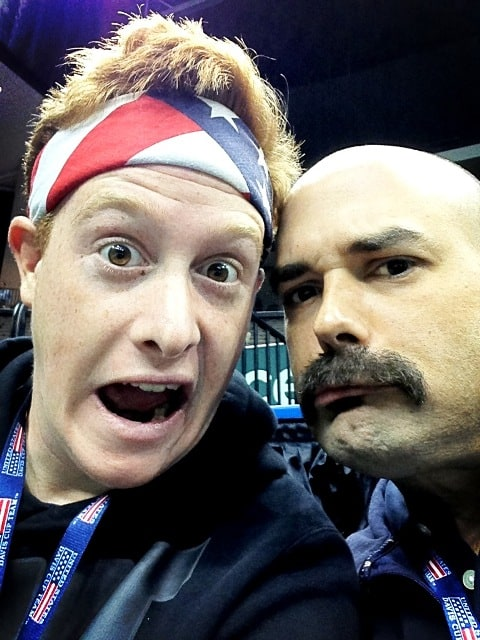 The real face of ACE, the Davis Cup Mascot - aka Kenny Siebold