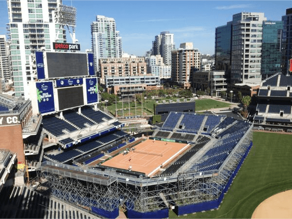 Left Field Tennis - Petco Park, San Diego - John, Sam, Ron, Mike and Bob - Photo: @USTA_TimCurry