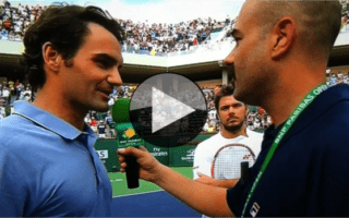 Roger Federer and Stan Wawrinka on Stadium-2