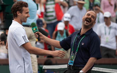 Ernests Gulbis. Always good for a racquet smashing laugh