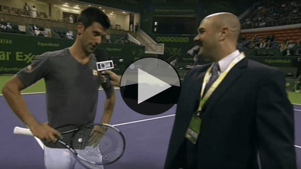 Doha 2015. Novak's New Year's Resolution: To have a voice like me