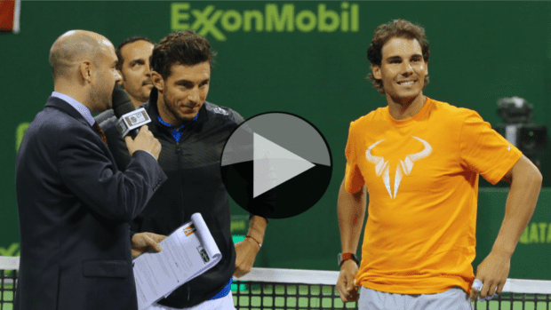 2015 Qatar ExxonMobil Open Doubles Champions. Juan Monaco and Rafael Nadal