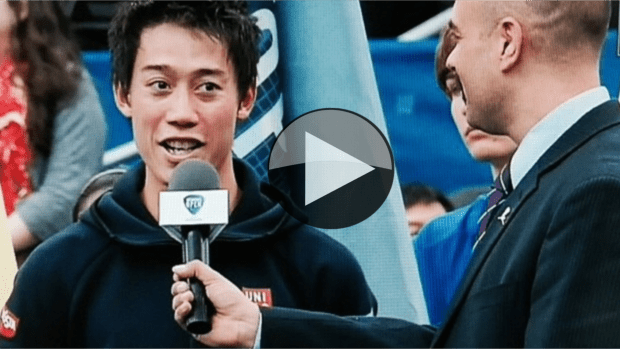 VIDEO: Kei Nishikori rewrites history in Memphis. (As seen on Tokyo television)