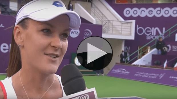 Doha 2015. Redemption over Flavia Pennetta. Agnieszka Radwanska