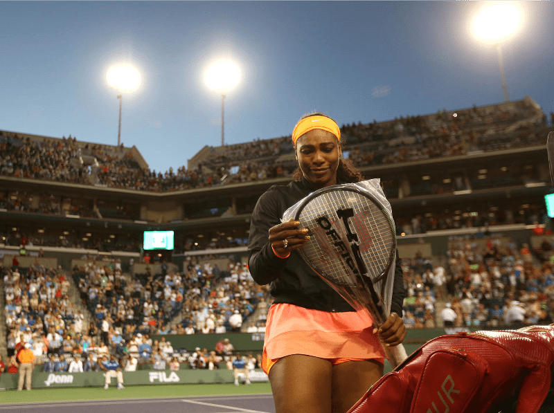 Tears. After 14-years, Serena Williams returns to Indian Wells