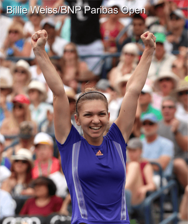 VIDEO: Simona Halep struggles to lift the trophy