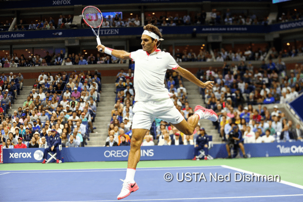 USOPEN15-Day14-Roger Federer-Set2