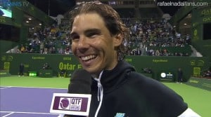 Rafael Nadal after the victory