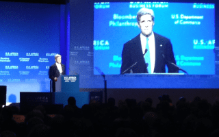 "Secretary of State John Kerry. ""Shaping the future of a fast-growing continent"""