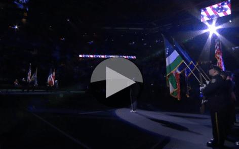 Opening Ceremony. Leslie Odom, Jr. - National Anthem