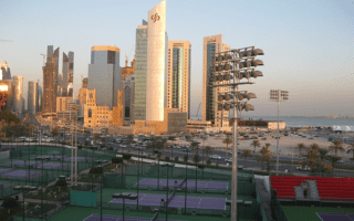Doha: A look northeast from the Khalifa Tennis Center