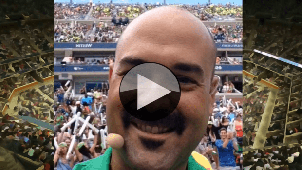 Fun with a few thousand fans at Arthur Ashe Kids Day