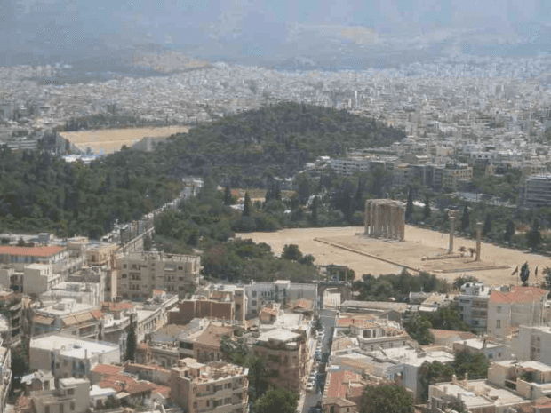 Athens. The view from the Acropolis