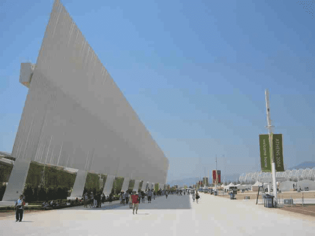 Athens 2004. A walk past the swimming venue