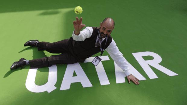 2016. Qatar Total Open. Failed attempt as a ball kid
