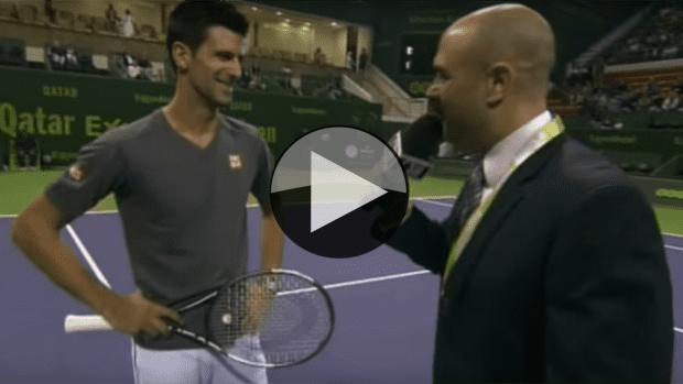 Announcer Impersonation. Novak Djokovic