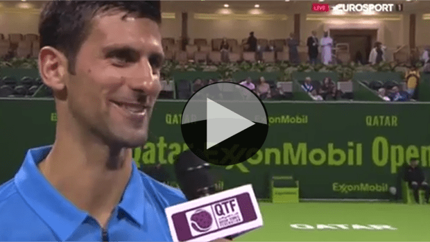 Novak Djokovic. An interview after the match