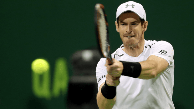 Andy Murray. Two time Doha Champion. Onto the Round of 16. (Getty Images)