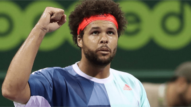 Jo-Wilfried Tsonga. 2012 Doha Champion. Onto the Round of 16. (Getty Images)