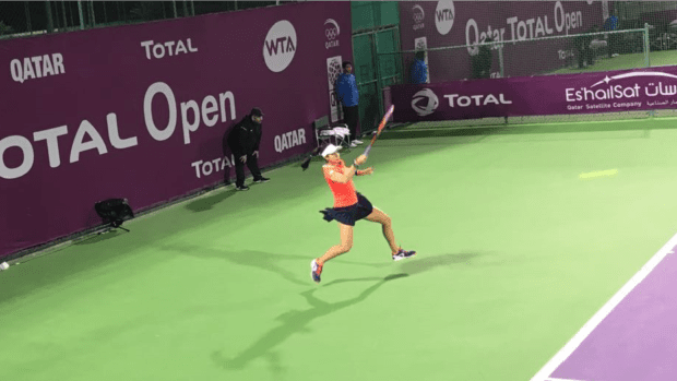 Team USA. Christina McHale. Into the final round of qualifying in Doha. (Photo: Sheri Kenly)