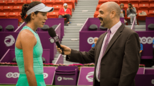 Garbine Muguruza: She reached the Round of 16, then fell to Shaui Zhang later Wednesday afternoon