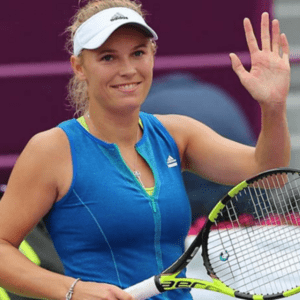 Caroline Wozniacki. Her 10th career win over Agnineszka Radwanska