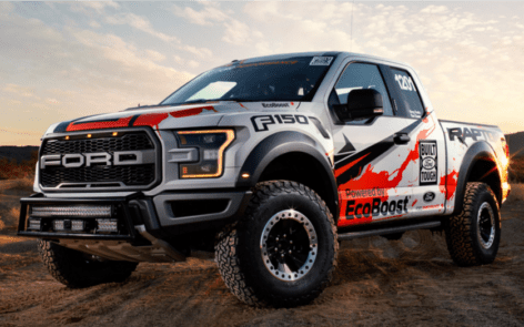 A stock 2017 Ford F-150 Raptor. Tough enough to conquer the Baja 1000