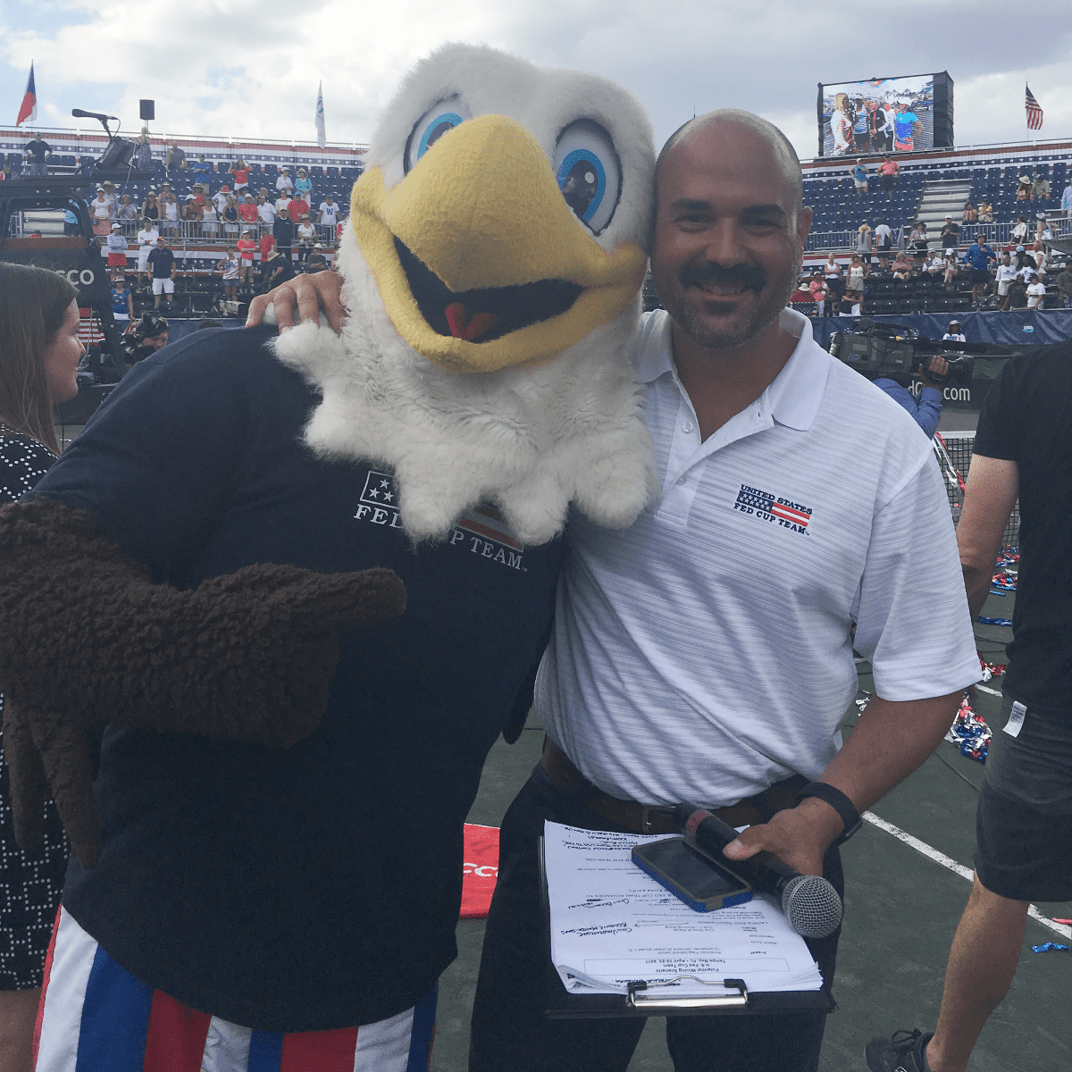 Kenny Siebold as US Fed Cup Team Mascot ACE...