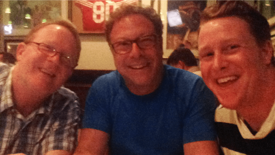 Another phone hijack shot: With Jeff Ryan, USTA Senior Director and Michael Fiur, US Open Director of Entertainment