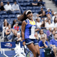 Andy Taylor. Tennis Announcer. 2017 US Open. Round-1. Day-2. Naomi Osaka upsets defending champion Angelique Kerber