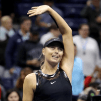 Andy Taylor. Tennis Emcee. 2017 US Open. Round-3. Day-5. Maria Sharapova defeats Sofia Kenin