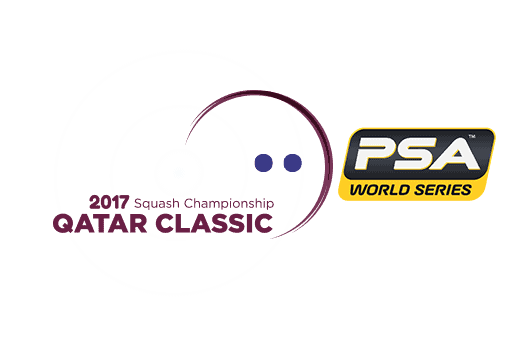Andy Taylor. Announcer. Host. 2017 Qatar Classic Squash Championships