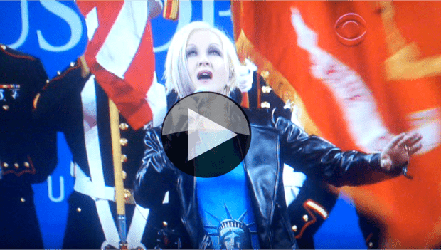 2011 US Open - Cyndi Lauper takes a stab at the National Anthem