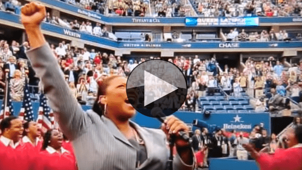 2011 US Open. Queen Latifah nails the National Anthem