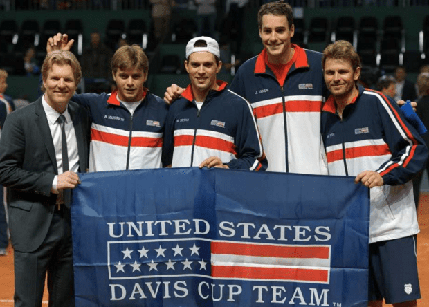 Team USA. On clay in Fribourg, Switzerland this weekend.