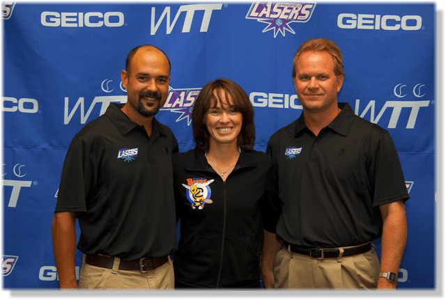 Martina Hingis visits Springfield with the New York Buzz