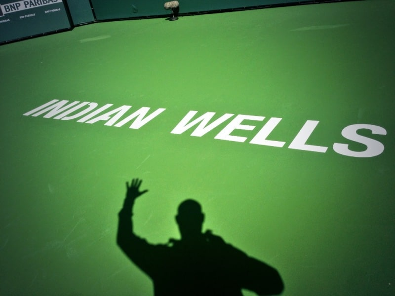 Indian Wells Stadium 2 Emcee Andy Taylor
