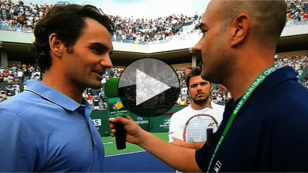 Andy Taylor roasts Roger with Stan Wawrinka