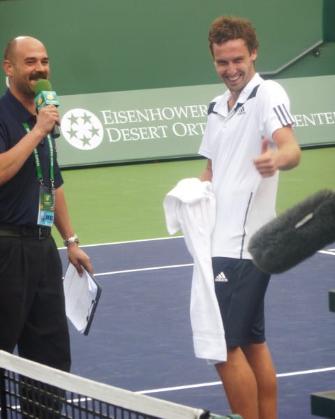 Stadium-2 Host Andy Taylor with Ernests Gulbis