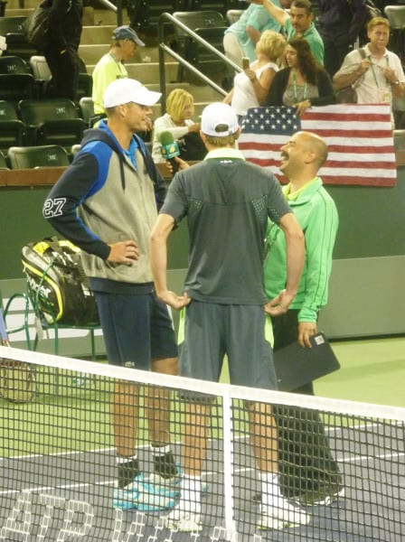 Stadium-2 Host Andy Taylor with John Isner and Sam Querrey