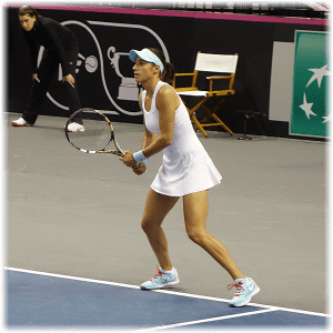 Fed Cup St. Louis 2014. Caroline Garcia dominates Team USA