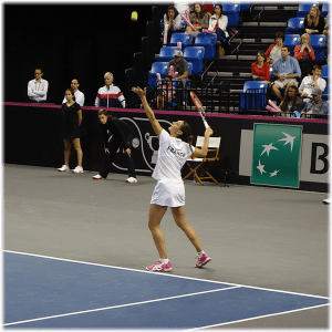 Fed Cup St. Louis 2014. Virginie Razzano clinches the Tie with Garcia