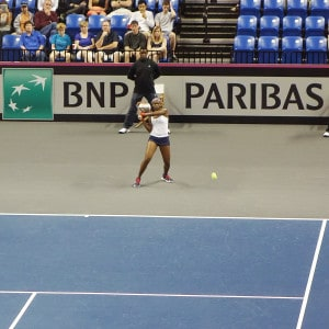 Fed Cup St. Louis 2014. Sloane Stephens goes 1-1 in Fed Cup Singles