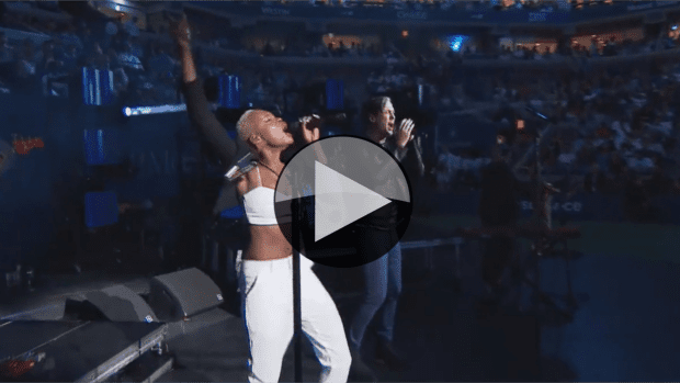 2014 US Open. Opening Ceremony featuring Fitz & The Tantrums