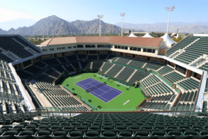 Indian Wells Stadium 2. Andy Taylor's home for 2-weeks