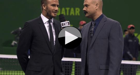 Qatar ExonMobil Open 2015. Trophy Ceremony with David Beckham