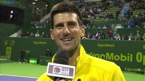Novak Djokovic after the victory