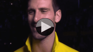 Novak Djokovic. Conversation after a dominant win